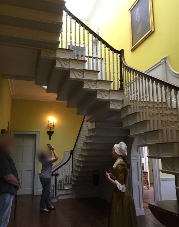 The central stairway in the Henry Knox Museum designed by Henry himself.