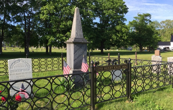 Graves and monument for Henry Knox and his family.