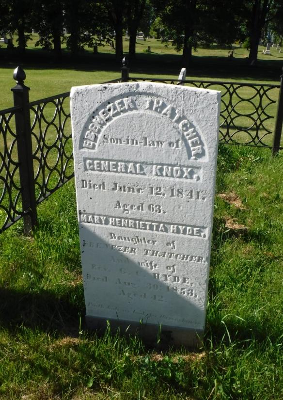 Ebenezer Thatcher's gravestone.
