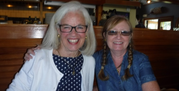 Mary Mitchell and Mary Kay Felton on the eve of the Boom! event at the Henry Knox Museum