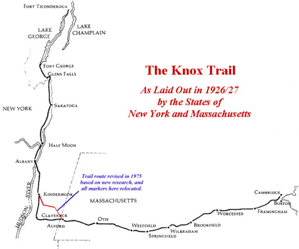 Sketch of the Henry Knox Trail