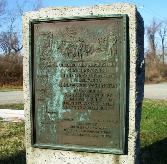 Marker for the Henry Knox Trail