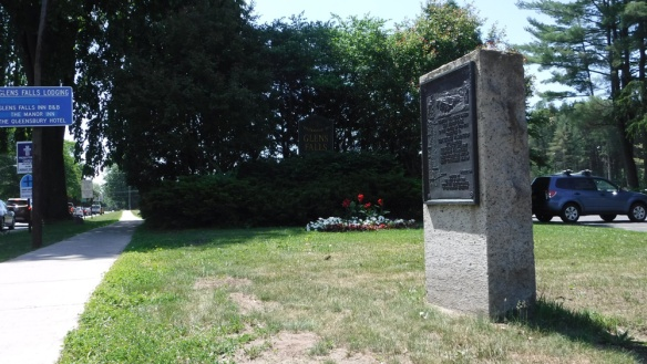 Marker No. 9 of the Henry Knox Trail at the southeast corner of Crandall Park, Glens Falls, NY