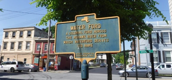 Plaque in Waterford, New York